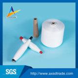 Fio girado da classe do branco 30s/2 AA poliéster 100% cru para a linha Sewing (fibra: Yizheng)
