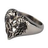 De Ring van de in het groot Gietende Mensen van de Ringen van het Roestvrij staal van de Ring van de Wolf Hoofd