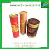 Напечатанная цветом высокая круглая коробка подарка картона чая флористической конструкции