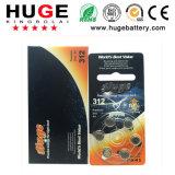 bateria A312 do dae (dispositivo automático de entrada) de audição da bateria do ar do zinco 1.4V