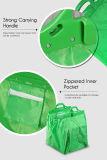 Складывая цветастый Non сплетенный мешок магазинной тележкаи