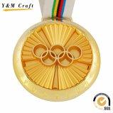 Medallas en blanco del acollador de la sublimación en tono del oro, de la plata y del bronce