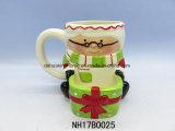 Caffè del pupazzo di neve/tazza di ceramica del tè per la decorazione di natale