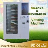 Máquina de Vending fresca quente da pizza na entrega da correia transportadora com elevador