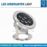 lampe sous-marine de la lumière IP68 AC/DC24V RVB DEL de piscine 24W