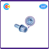 DIN и ANSI/BS/JIS Stainless-Steel Carbon-Steel/4.8/8.8/10,9 синего и белого цвета с цилиндрической головкой комбинации винт