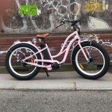 Bici elettrica della gomma grassa del Ce della montagna della città della spiaggia di stile delle donne