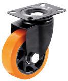 4/5 인치 트롤리를 위한 주황색 PVC 조정 피마자 바퀴