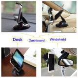 Черный держатель телефона приборной панели лобового стекла автомобиля мыши для мобильного телефона