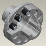 Accoppiamento di Pin con il giunto a manicotto flessibile del manicotto elastico