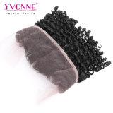 Yvonne Grosso Virgem humanos brasileiros 360 Lace Ondulação Kinky Frontal 13,5*4 barbeiro