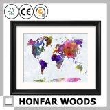 حديثة جدار زخرفة خريطة فنّ صورة زيتيّة مع إطار خشبيّة