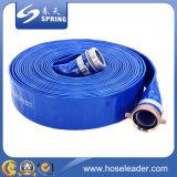 Boyau renforcé bleu de débit de PVC