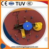 Les jouets extérieurs de jeu de cour de jeu en plastique avec l'oscillation ont placé (WK-A1020A)
