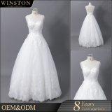 Fonte de China todos os tipos do vestido de casamento novo do Neckline do querido da chegada