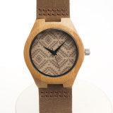 Reloj de madera del cuarzo del reloj de Mens de la placa de dial