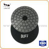 Résine souple de 100mm Tampon à polir l'utilisation humide avec Buff Grit