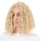 Le donne mettono le parrucche in cortocircuito sintetiche di Cosplay della fibra a temperatura elevata riccia della parrucca