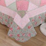 Jogo floral do fundamento da Quatro-Parte da impressão pura do algodão