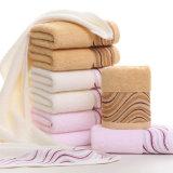 Cara del algodón/toalla de interior/del hotel promocionales del telar jacquar del baño/de la mano