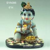 Estátua Hindu indiana de Krishna do bebê de Krishna Murti do deus de Pooja da mascote religiosa