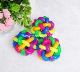 De kleurrijke Bal van de Kat van het Stuk speelgoed van de Hond van de Regenboog in Kleine Middelgrote Grote Grootte