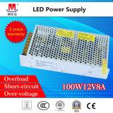 12V 8.3A Ein-Outputschaltungs-Stromversorgung Wechselstrom zu Gleichstrom SMPS für Beleuchtung 100W