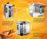 De commerciële het Diesel 16-dienblad van de Machine Roterende Oven van het Rek voor de Winkel van de Bakkerij