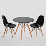 يتعشّى كرسي تثبيت ليّنة [بدّد] مقادة كرسي تثبيت حديثة بلاستيكيّة مع ساق خشبيّة رماديّة