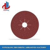 discos da fibra da resina da espessura de 8mm com papel de lixamento do óxido de alumínio