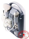 Los ultrasonidos en el equipo de diagnóstico médico, el ecógrafo portátil con pantalla LED y de la batería Flipover