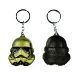Großhandelskundenspezifisches Metall Star Wars Keychains des Firmenzeichen-3D