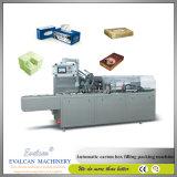 Pequeño cartón automático que empaqueta, caja de embalaje que envuelve la cadena de producción máquina