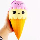 Reizendes buntes doppelte Sahne-Muffin-Eiscreme-pädagogisches Squishy Spielzeug
