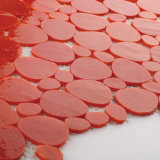 La hoja de cristal roja del mosaico del círculo embaldosa natural para la pared Backsplash de la cocina