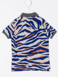 Les pistes du tigre du garçon fait sur commande ont estampé la chemise de polo