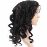 Tipo vendedor caliente completo peluca hermosa del pelo humano del cordón de las mujeres