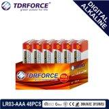 Le mercure et cadmium libre de la Chine fournisseur pile alcaline numérique (LR6-AA 48pcs)