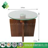 高品質の黒いクルミの構造のガラスデスクトップのコーヒーテーブル