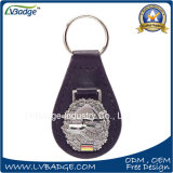 Corrente chave de couro do plutônio do metal relativo à promoção