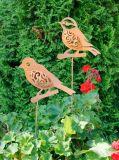 Bâton antique de jardin de pieu de guindineau de métier en métal