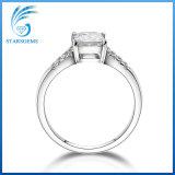 정연한 공주 Cut 2 캐럿 7.5X7.5mm 백색 Moissanite 다이아몬드 은 반지