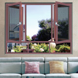 Prueba de madera del sonido de la ventana del marco del grano de la aleación de aluminio
