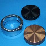 주문을 받아서 만들어진 CNC 돌기를 가진 알루미늄 반지 부속 그리고 둥근 부분