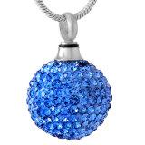 Collier femelle d'urne d'incinération d'acier inoxydable de Rhinestone/bijou en cristal d'incinération