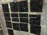 床タイルのための黒いおよび金大理石の平板
