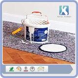 Limpar o tapete do piso para pintura de piso laminado