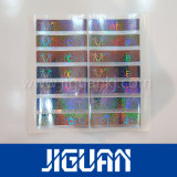 Collant adhésif d'étiquette d'hologramme d'arc-en-ciel de roulis