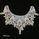 35*28cm fleur Décor Costume Couture Broderie encolure applique le collier d'artisanat Dentelle soluble dans l'eau hme929