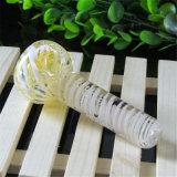 Tubo de cristal de la cuchara del tubo de agua de tubo del tabaco de la mano de la raya colorida de cristal del tubo